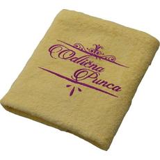 Brisača Odlična punca, rumena 100x5Ocm 100% bombaž