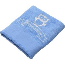 Brisača ob rojstvu, 100x5Ocm, svetlo modra, sovica