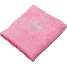 Brisača ob rojstvu, 100x5Ocm, svetlo roza, iskrene čestitke