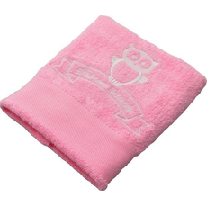 Brisača ob rojstvu, 100x5Ocm, svetlo roza, sovica