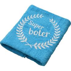 Brisača Super boter, aqua modra 100x5Ocm 100% bombaž