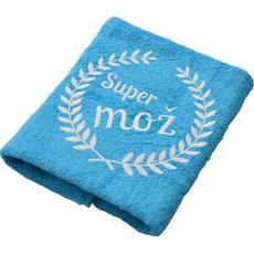 Brisača Super mož, aqua modra 100x5Ocm 100% bombaž