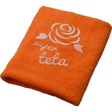 Brisača Super teta, oranžna 100x5Ocm 100% bombaž