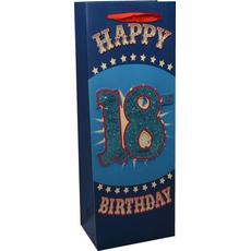 """Darilna vrečka za steklenico """"18"""" - moška, 35x12,5cm"""