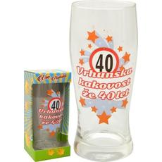 Kozarec za pivo 0,5l 40 let Vrhunska kakovost