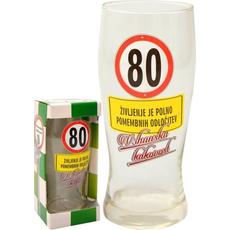 Kozarec za pivo 0,5l 80 let Življenje je polno