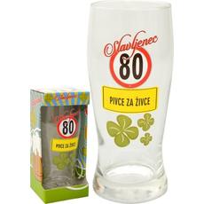 Kozarec Za Pivo 0,5l 80 Let Slavljenec