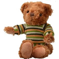 Plišasta igrača - medvedek Classic, svetlo rjav, v puliju, 12 cm