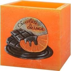Laterna oranžna, čokolada pomaranča, kvadrat, 110x105 mm