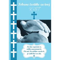 Voščilo Čestitka Krst Modra