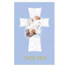Voščilo Krst Vizitka Dojenček Kriz Dečki
