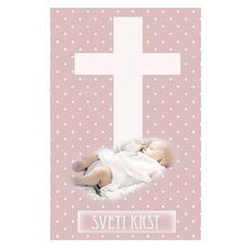 Voščilo Krst Vizitka Dojenček Kriz Deklice
