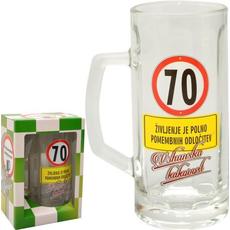 Vrč za pivo 0,5l 70 let Na zdravje