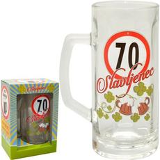 Vrč za pivo 0,5l 70 let Slavljenec