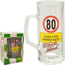 Vrč za pivo 0,5l 80 let Na zdravje