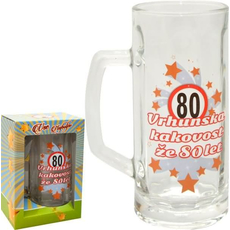 Vrč za pivo 0,5l 80 let Vrhunska kakovost