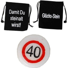Kamenček Sreča Vrečka Prometni Znak 40