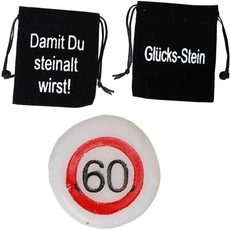 Kamenček Sreča Vrečka Prometni Znak 60