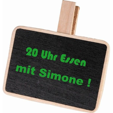 Lesena tablica s ščipalko, 7x7cm