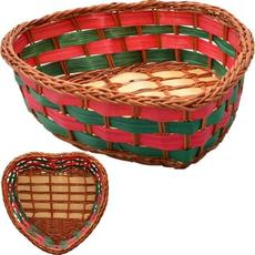 Pletena košarica srček, 12x13x4cm