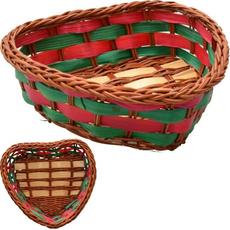 Pletena košarica srček, 9x10x3cm