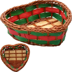 Pletena košarica srček, 7,5x8,5x2,5cm