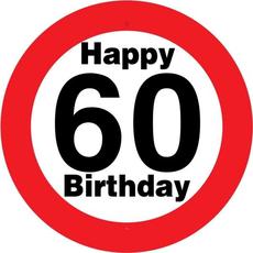 Prometni Znak 60 Happy Birthday