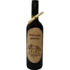 Steklenica Vino Dekoracija Gasilec