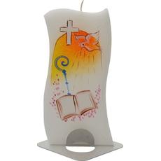 Sveča Dišeča Stojalo Zakrament Oranžna Darilna Embalaža