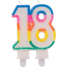 Sveča za torto v obliki številke 18