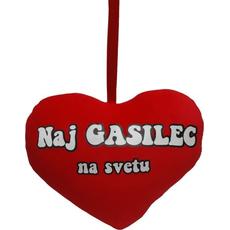 Srček Naj GASILEC na svetu, 19x14cm