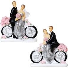 Srebrnoporočenca na kolesu, polymasa, 11x9.5cm, sort.
