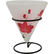 Svečnik Lampijon Parafin Čajna Lučka Orhideja Rdeča