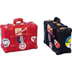 Hranilnik kovček, črn/rdeč, 10.5x14.5cm