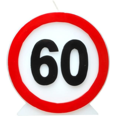 Dekoracija Sveča Prometni Znak 60