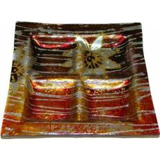 Dekorativen steklen krožnik, kvadraten, 18x18cm