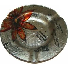 Steklen pepelnik, okrogel, 17x17cm