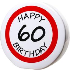 "Hranilnik ""Happy Birthday"" prometni znak 60, keramika, 15cm"