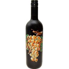 Vino Merlot Poslikava Steklenica Grozd