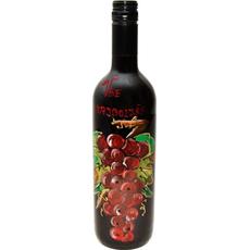 Vino Merlot Poslikava Steklenica Grozd Vse Najboljše