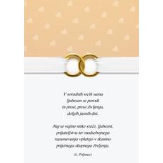 Voščilo Čestitka Poročna Srčki Prstana