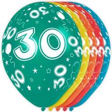 Baloni barvni iz lateksa, 30, 5kom, 3Ocm