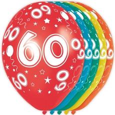 Baloni barvni iz lateksa, 60, 5kom, 3Ocm