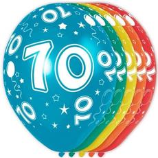 Baloni barvni iz lateksa, 70, 5kom, 3Ocm