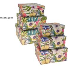 Darilna škatla, kvadratna, barvna, 14x14x6.5cm, sort.