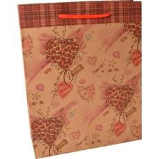 Darilna vrečka eko, različni srčki, 24.5x19x8cm