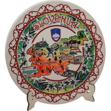 Slovenija, Dekorativni krožnik za obesit, 18cm, , na stojalu