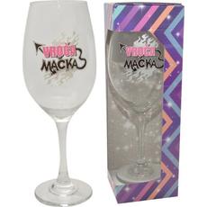 Kozarec za vino, Glitter party, Vroča mačka, 6OOml