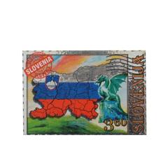 Slovenija, Magnet znamka mala, zastava, 5.5x3.5cm