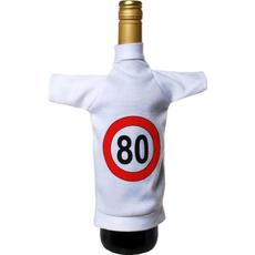 Mini majčka, oblačilo za steklenico, prometni znak 80, 20x12cm